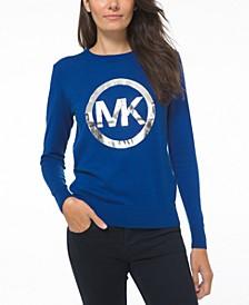 Metallic Logo Graphic Sweater