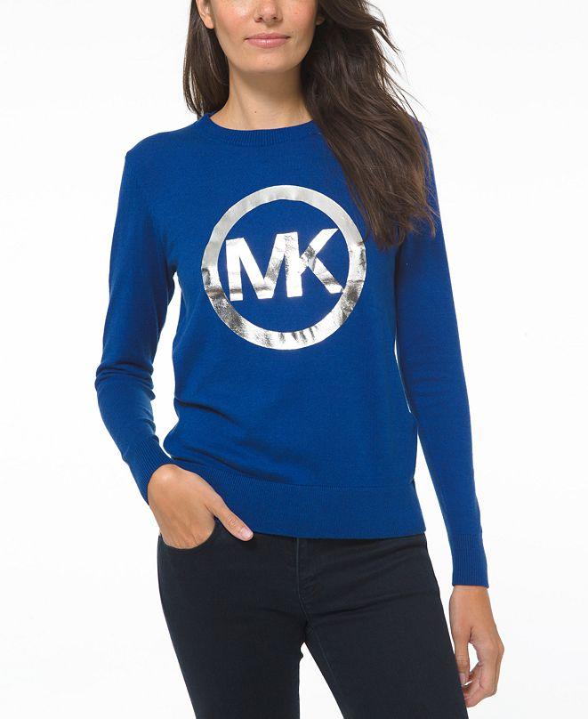 Michael Kors Metallic Logo Graphic Sweater