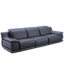 Daisley 3-Pc. Leather Sofa with 3 Power Recliners
