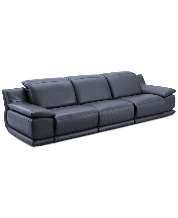 Furniture Daisley 3-Pc. Leather Sofa with 3 Power Recliners