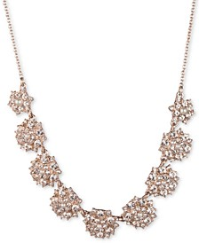 """Rose Gold-Tone Imitation Pearl Cluster Statement Necklace, 16"""" + 3"""" extender"""
