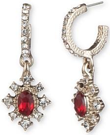 Gold-Tone Stone & Crystal Dangle Drop Earrings