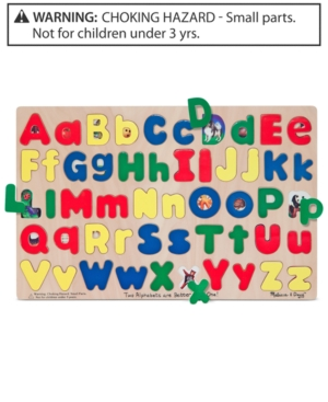 Melissa and Doug Kids Toy Upper and Lowercase Alphabet Puzzle