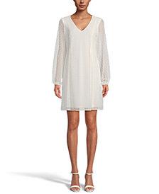 INC Bow-Back Clip-Dot Shift Dress, Created for Macy's
