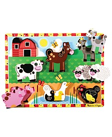 Melissa and Doug Kids Toy, Farm Chunky Puzzle