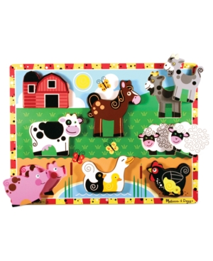Melissa and Doug Kids Toy Farm Chunky Puzzle