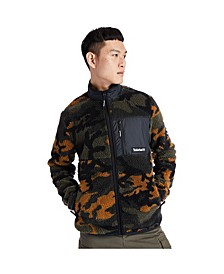 Mens Camo Sherpa Fleece Jacket