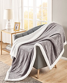 Carved Classic Sherpa Throw; Created For Macys