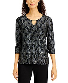 Keyhole Jacquard Hardware Top, Created For Macy's
