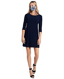 Shift Dress & Face Mask Necklace