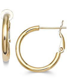 Small Polished Hoop Earrings in 18k Gold-Plated Sterling Silver, Created for Macy's