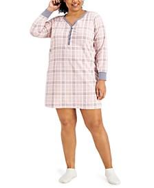 Plus Size Sleepshirt & Socks 2pc Set, Created for Macy's
