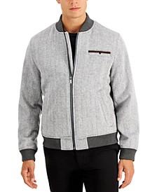 Men's Herringbone Bomber Jacket, Created for Macy's