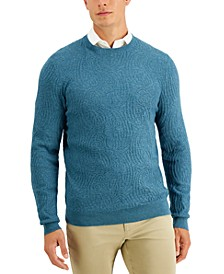 Men's Intarsia Crewneck Sweater, Created for Macy's