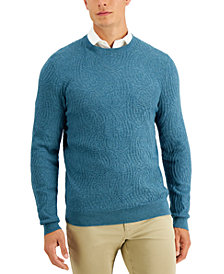 Tasso Elba Men's Intarsia Crewneck Sweater, Created for Macy's