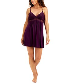 INC Lace-Trimmed Knit Chemise Nightgown , Created for Macy's