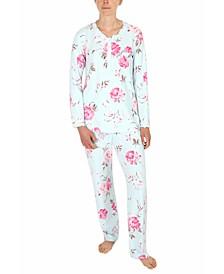 Printed Knit Pajamas Set