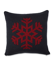 "Glitzy Snowflake Throw Pillow, 18"" L x 18"" W"