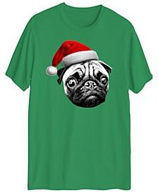 Men's Pug Santa Short Sleeve T-shirt