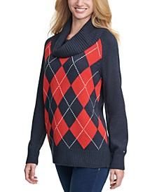 Argyle Cowlneck Sweater