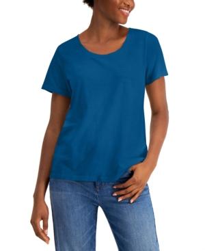 Eileen Fisher Women's Scoopneck Short-sleeve T-shirt In Marine