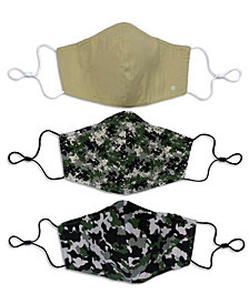 Unisex Curved Face Mask Camo 3-Pack