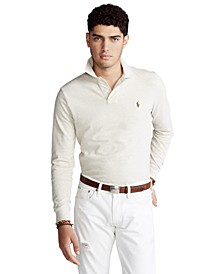Men's Big & Tall Mesh Long-Sleeve Polo Shirt