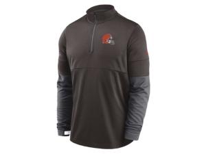 Nike Cleveland Browns Men's Sideline Half Zip Therma Top