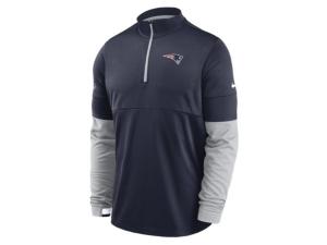 Nike New England Patriots Men's Sideline Half Zip Therma Top