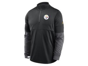 Nike Pittsburgh Steelers Men's Sideline Half Zip Therma Top