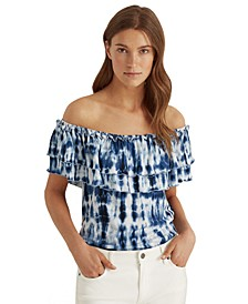 Off-the-Shoulder Ruffle Floral Top