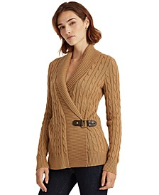 Buckled Cotton Sweater