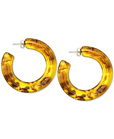 """Gold-Tone Large Colored Chunky Hoop Earrings, 2.33"""""""
