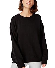 Women's Long Sleeve Fleece Crew Sweatshirt