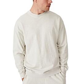 Men's Pigment Dyed Oversized Crew Sweater