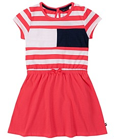 Toddler Girls Stripe Flag Tee Dress