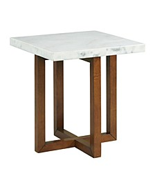 Meyers Marble Square End Table