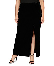 Plus Size Velvet Skirt