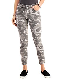 Camo-Print Curvy Skinny Jeans, Created for Macy's