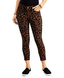 Leopard-Print Curvy Skinny Jeans, Created for Macy's