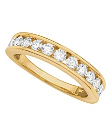 Certified Diamond Channel Band 1 ct. t.w. in 14k White or Yellow Gold