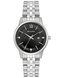 Women's Diamond Accent Stainless Steel Bracelet Watch 32mm