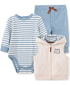 Little  Me Baby Boy Tiger 3 Piece Vest Set