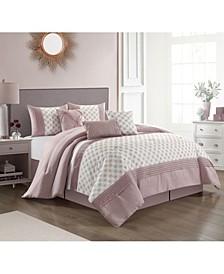America Elisha 7 Piece Comforter Set, King