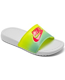 Women's Benassi JDI Print Slide Sandals from Finish Line