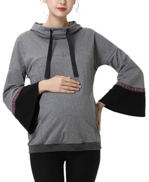 kimi + kai Layla Maternity or Nursing Embroidery Active Hoodie