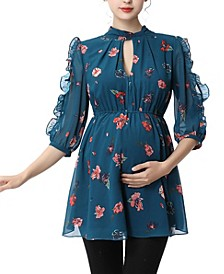 Reese Maternity Floral Print Blouse