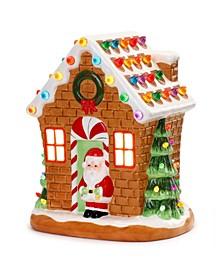 "12"" Lit Nostalgic Gingerbread House"