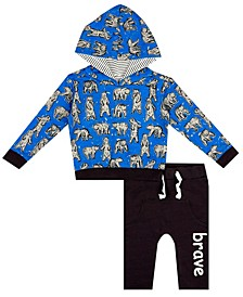 Earth Organic Baby Boy 2-Piece Spencer Hoodie Set