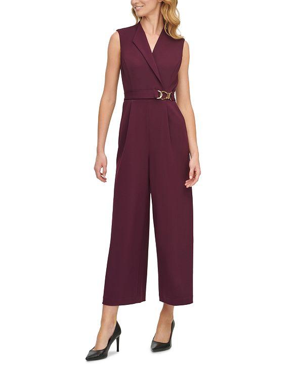 Calvin Klein Belted Jumpsuit